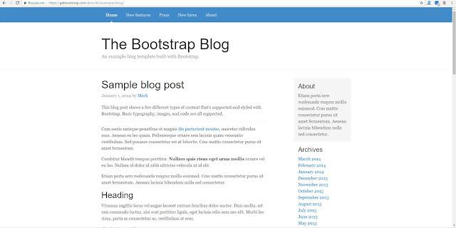 Przykładowy szablon Bootstrap