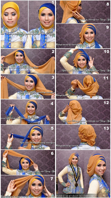 7 Tutorial Hijab Yang Akan Membuat Kamu Anggun Dan Tambah Cantik