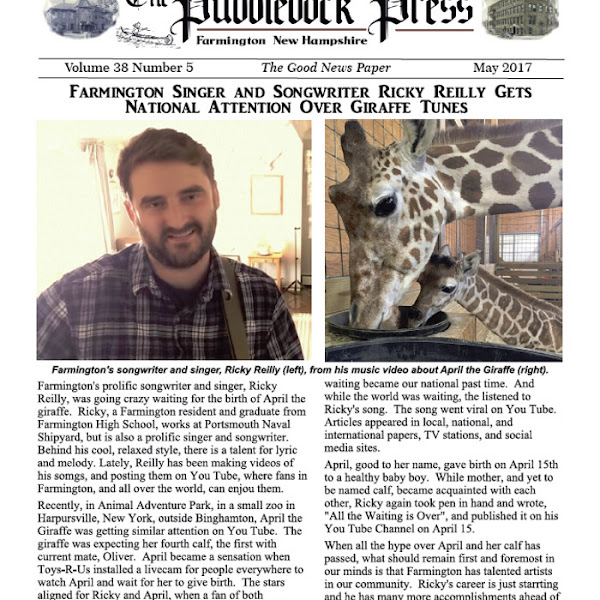 The May 2017 Edition of the Puddledock Press is Out.