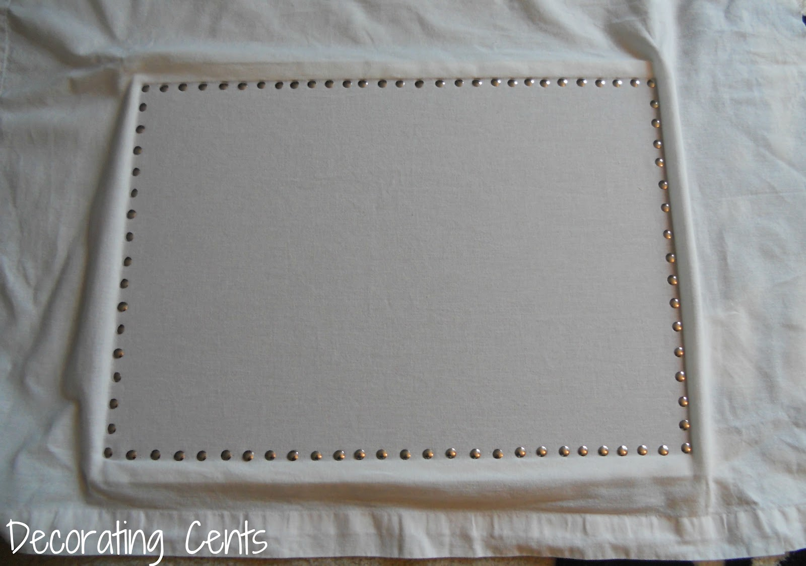 Decorating Cents Faux Nailhead Pinboard