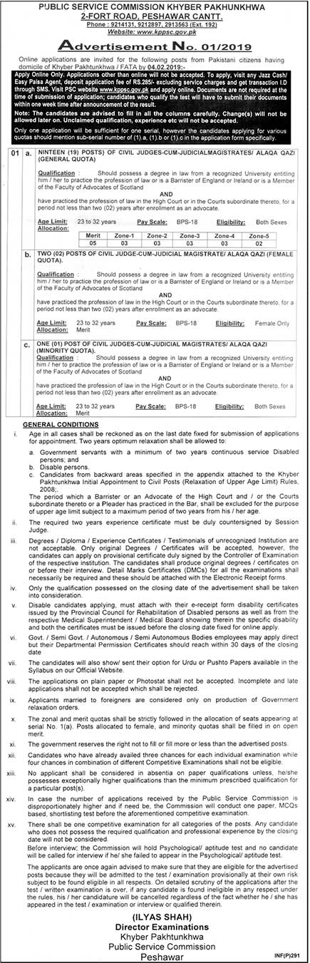Khyber Pakhtunkhwa Public Service Commission KPPSC Announced Jobs in KPK