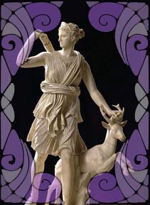 Goddess Ártemis Statue