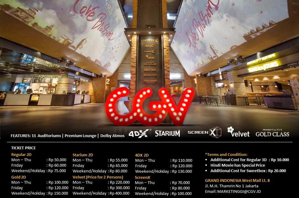 Lowongan Kerja D3-S1 di CGV CINEMAS