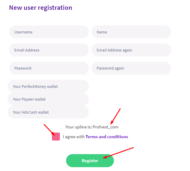 Регистрация в Twino 2
