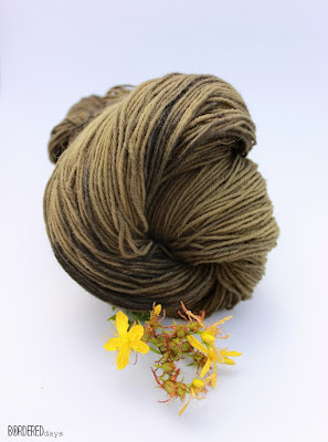 Wool yarn dyed with St John's wort