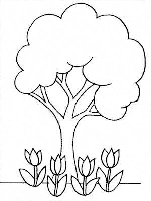 Gambar Mewarnai Bunga - 8