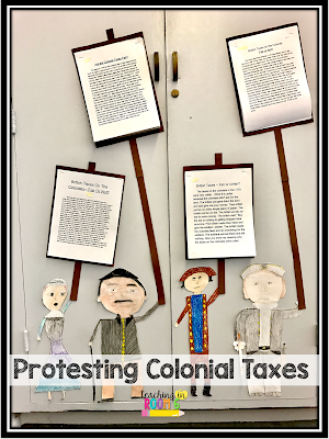 Forming an opinion on colonial taxes.