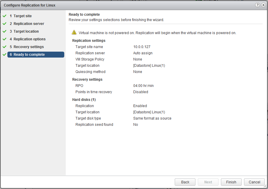 Hostile Coding: VMware: vSphere Replication Part 5 - Enable Replication