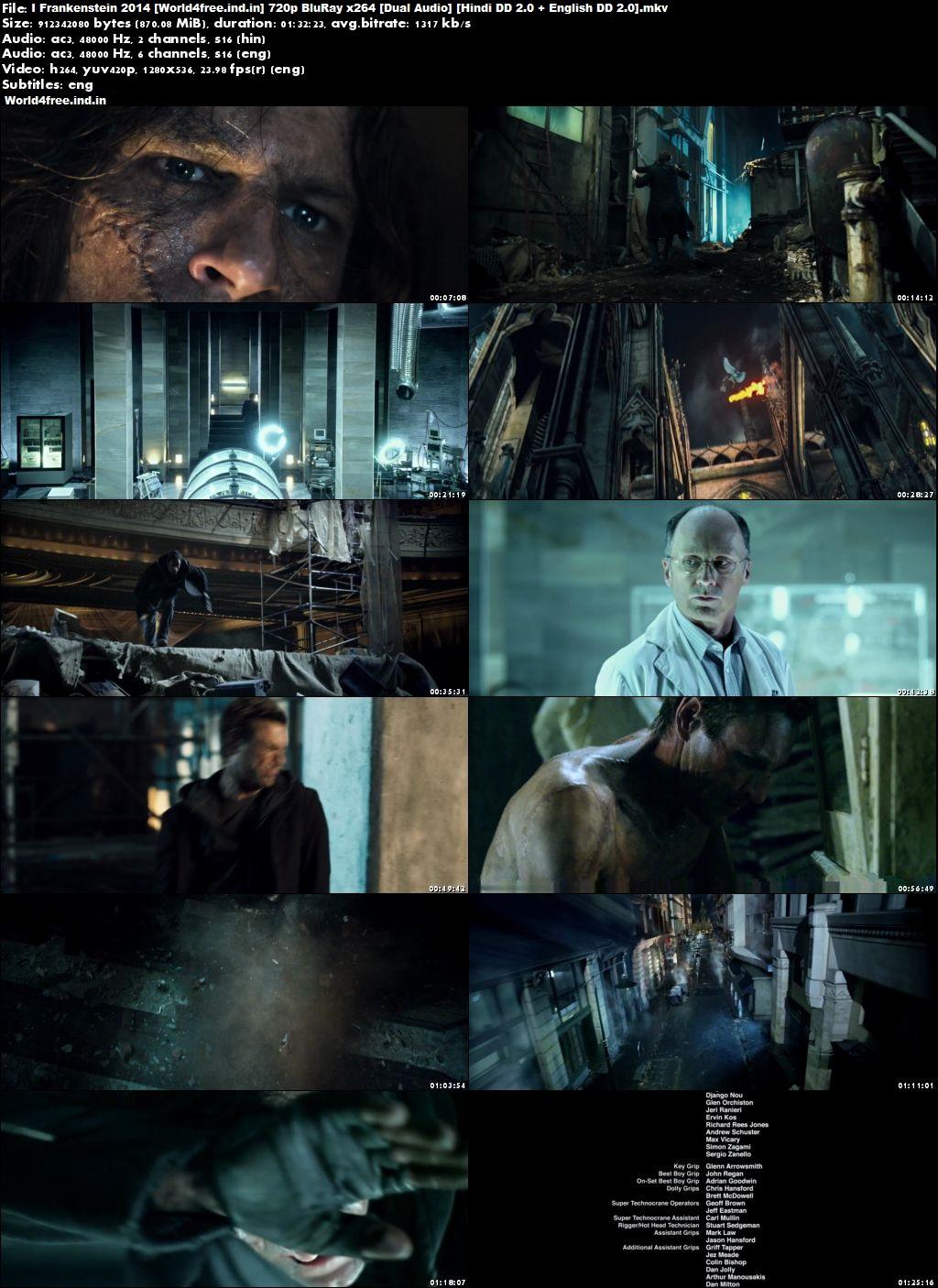 I Frankenstein 2014 world4free.ind.in Dual Audio BRRip 720p In Hindi English