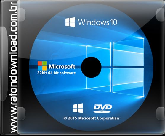 Windows 10 Pro Final Original Microsoft Vlsc: Windows 10 AIO PT-BR DVD 32/64 Bits