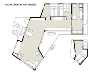 Arquitectura nórdica plano de planta