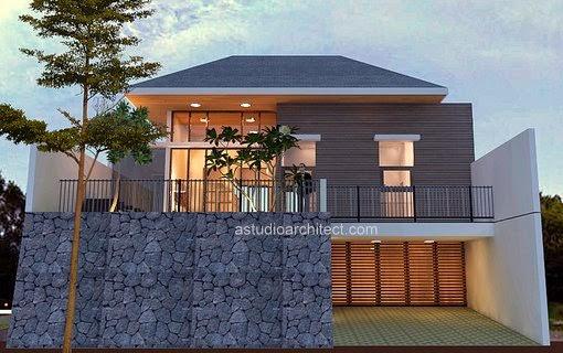 Desain rumah villa di kota