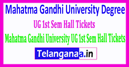 MGU Degree Mahatma Gandhi University UG 1st Sem Hall Tickets 2018 Download