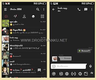 BBM Mod Dark Fution Versi 3.0.1.25 apk