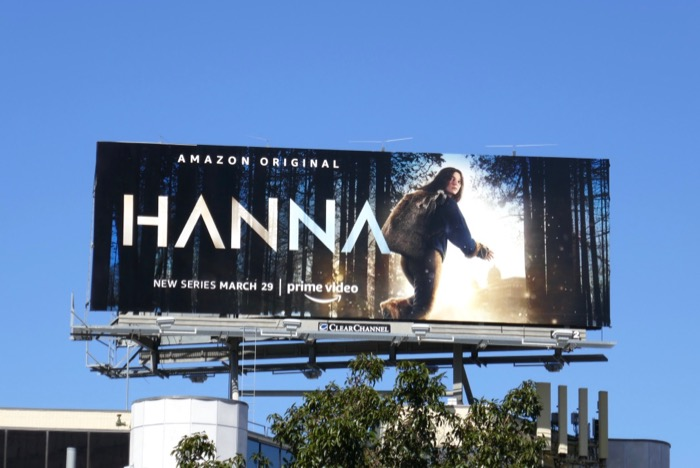 Hanna Amazon series billboard