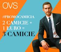 Logo OVS: 2 camicie + 1€ = 3 camicie! Scopri la promozione