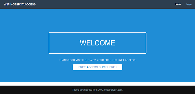 Custom Login Page Free Internet Access