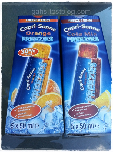 Capri Sonne Orange und Cola-Mix Freezies