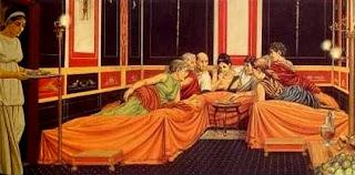 Así es como comían los patricios romanos. Comida y siesta, de una sola vez.