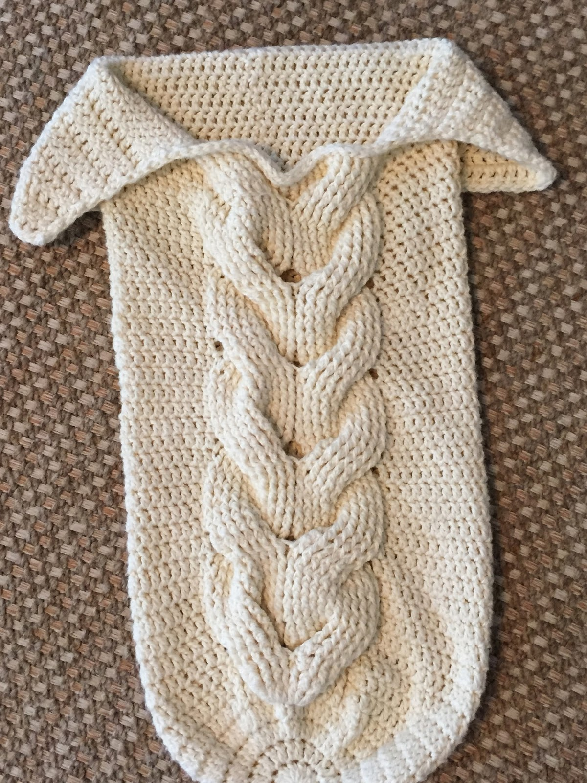 Skein And Hook Free Crochet Pattern Cabled Baby Cocoon