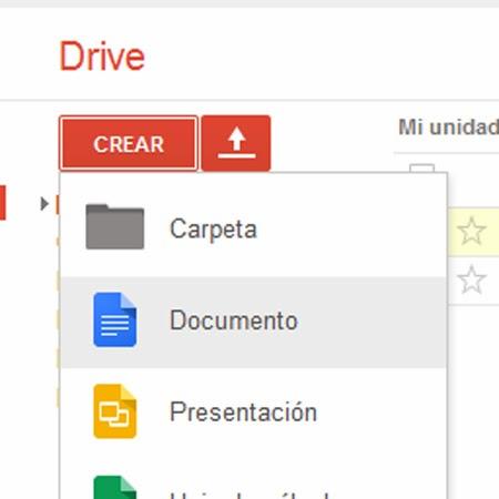 crear un documento en google docs