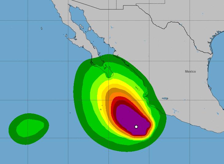 Huracán Bud se fortalece y amenaza México