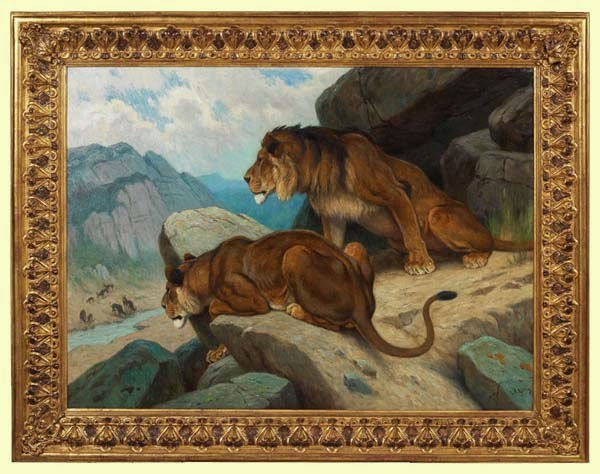 lion de l 39 atlas tableau lions de l 39 atlas. Black Bedroom Furniture Sets. Home Design Ideas