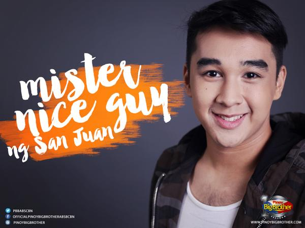 """Mr. Nice Guy ng San Juan"" - Kyle"
