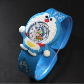 Gambar Jam Tangan Anak Karakter Kartun Doraemon