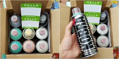 Whoopidooings: First Spray paints - Kobra spray paints