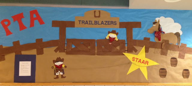 Western, Rodeo Cowboy theme PTA bulletin board idea