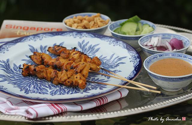 Kycklingspett med jordnötssås - Chicken Satay with Peanut Sauce