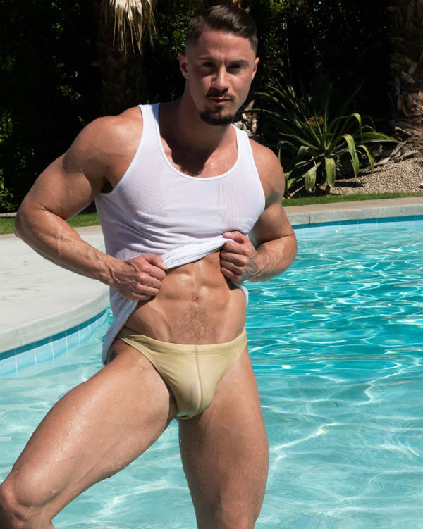 Bulge: Skyy Knox Shirtless by Benjamin Veronis
