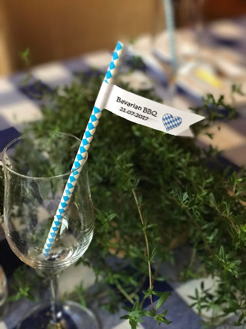 personalized straws for a Bavarian BBQ, Wedding abroad, Mountain wedding lake-side at the Riessersee Hotel Resort Bavaria, Germany, Garmisch-Partenkirchen