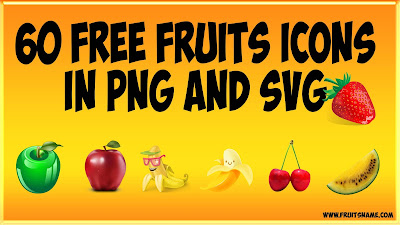 60 Free Fruits Icon In Png And Vector Art | Fruits Name