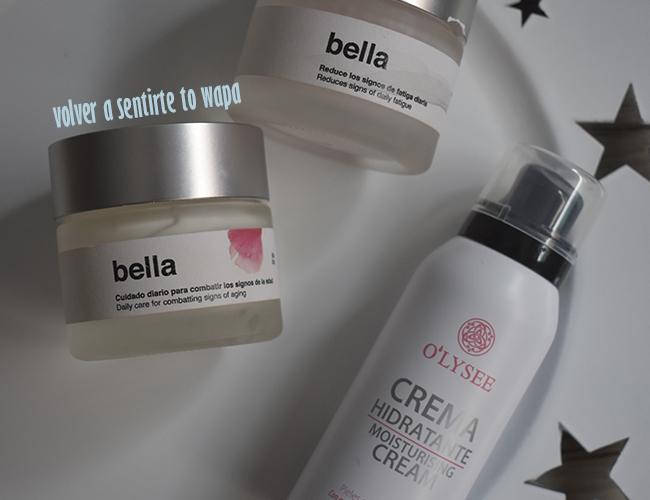Rutina facial: cremas antimanchas bella de bella aurora y crema facial de o'lysee de Mercadona