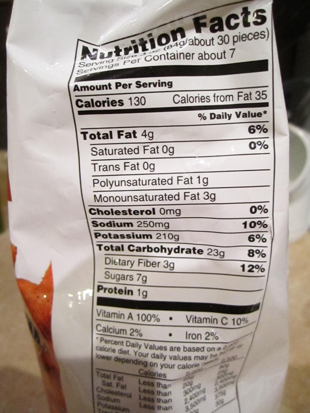 Nutrition Facts Alexia Sweet Potato Fries