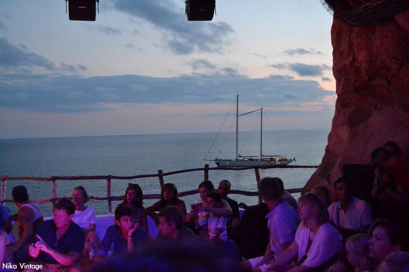 anochecer, ocaso, Atardecer, La Cova d'en Xoroi, concierto, velero