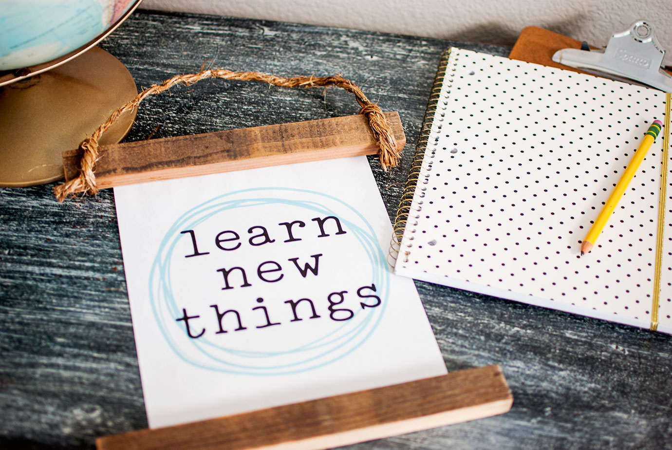 Learn New Things Printable and DIY Project