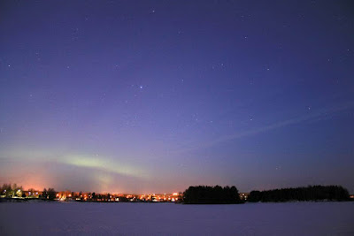 Searching for Northern Lights in Lapland