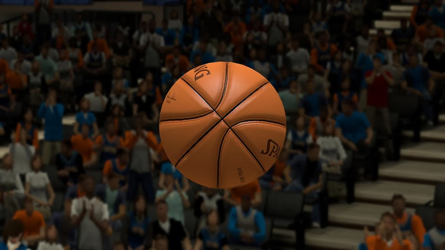 NBA 2K14 New Spalding Ball w/ Adam Silver's Signature