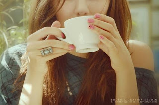 Cute Girl Drinking Coffee