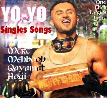 Mere Mehboob Qayamat Hogi Rap Version Lyrics