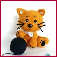 Mini gatito amigurumi
