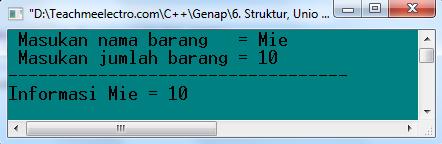 Running program struct C++