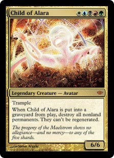 Magic the Gathering multicolor legendary creature