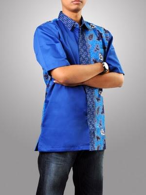 model kemeja remaja pria kombinasi batik modis