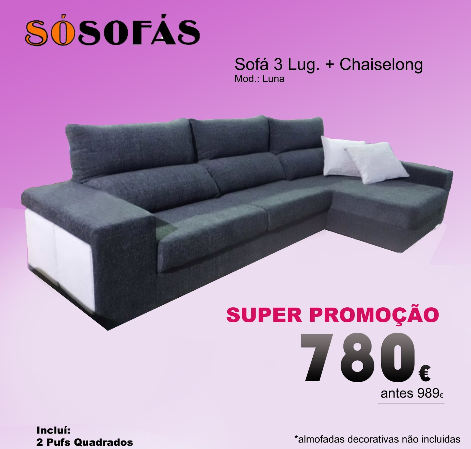 Super Promo 199 195 O Sof 193 3 Lugares Chaiselong S 243 Sof 225 S