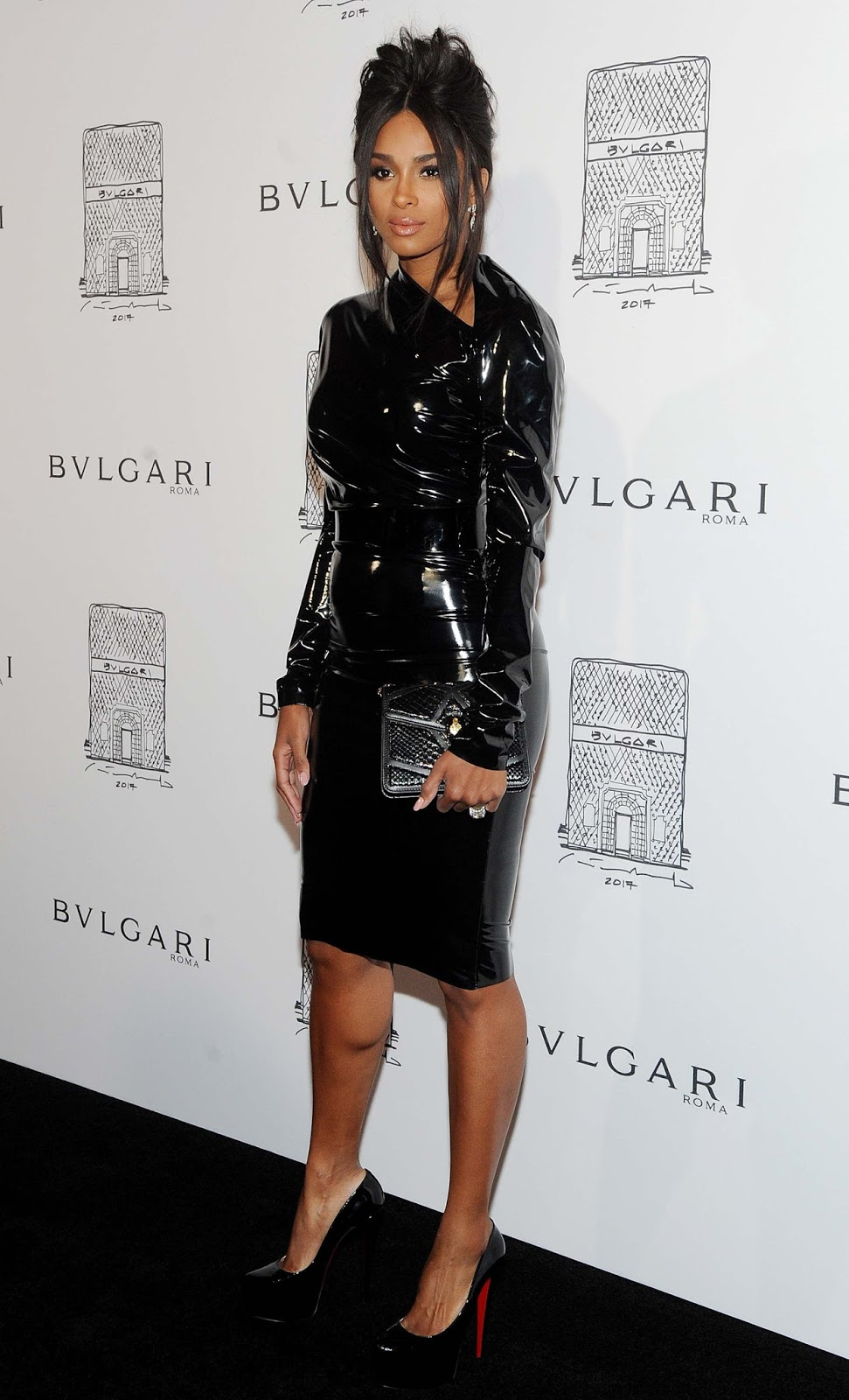 Holly Halston Latex for lovely ladies in leather: ciara in a latex dress
