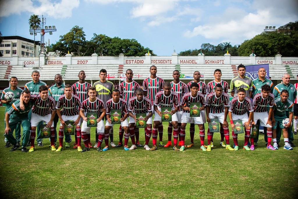 100 ANOS Sub-23 do Fluminense e Exeter City comemoram aniversário da ... c16c42679985c